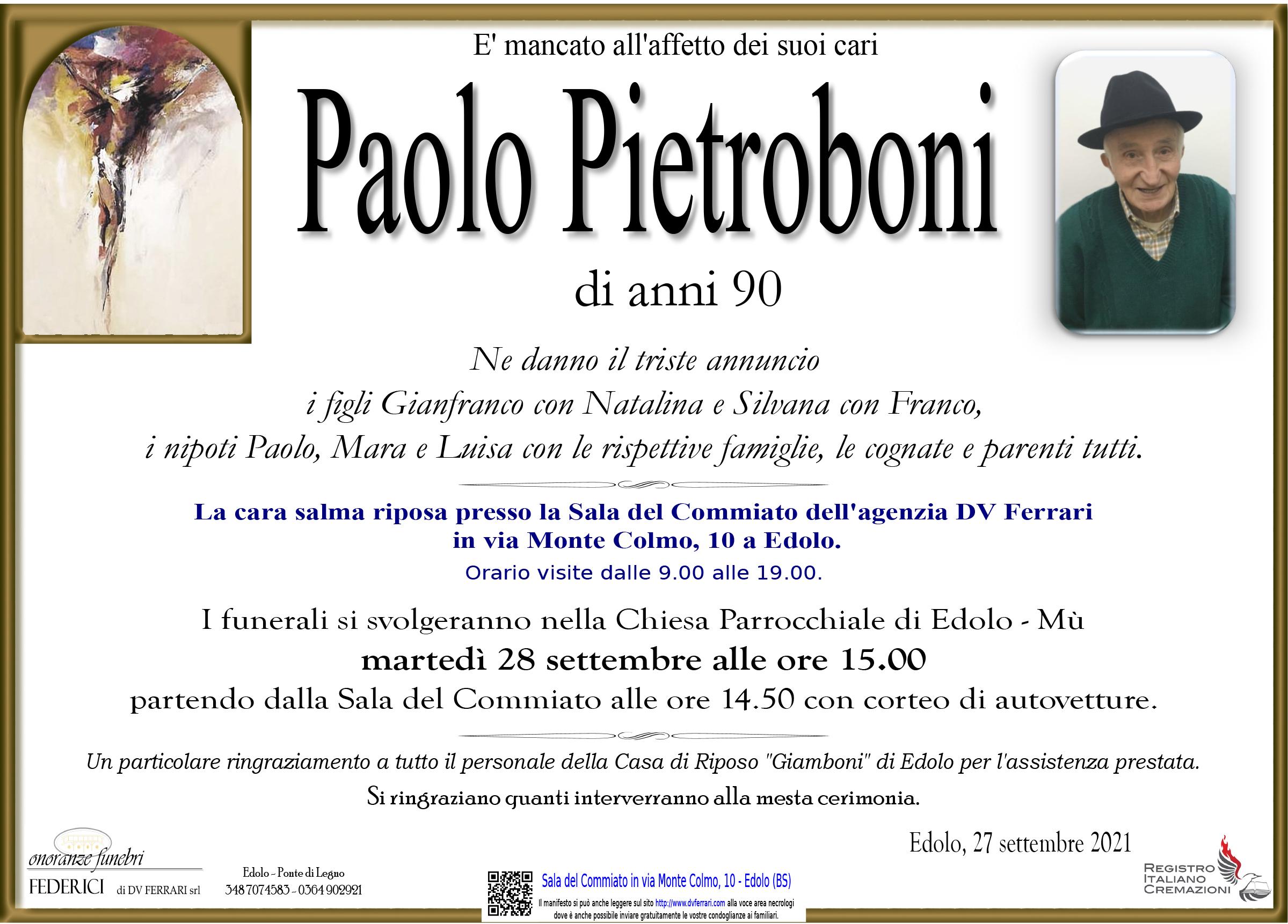 PAOLO PIETROBONI - EDOLO