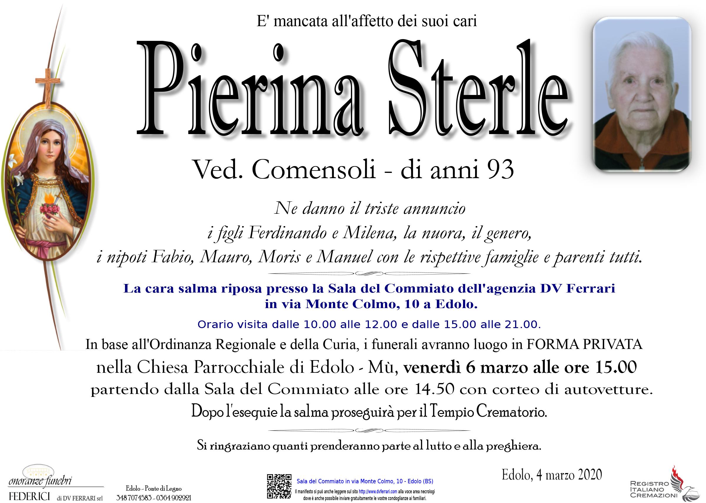PIERINA STERLE ved. COMENSOLI - EDOLO