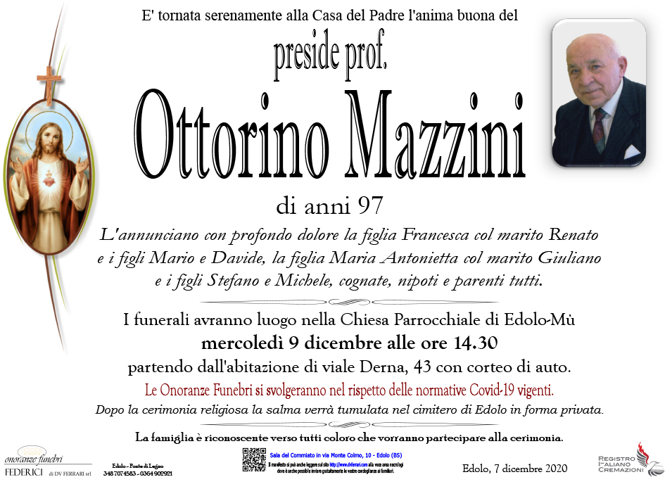 preside prof. OTTORINO MAZZINI - EDOLO