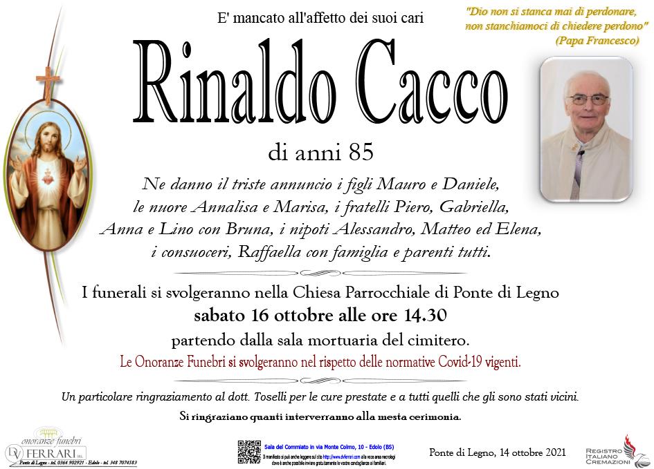 RINALDO CACCO - PONTE DI LEGNO