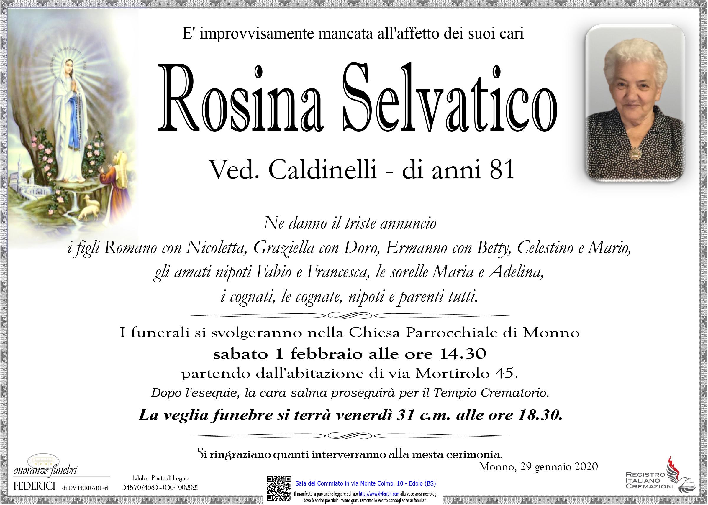 ROSINA SELVATICO ved. CALDINELLI - MONNO