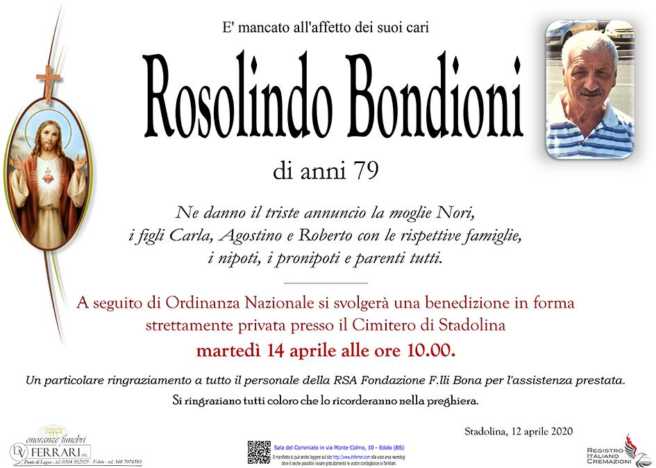 ROSOLINDO BONDIONI - STADOLINA