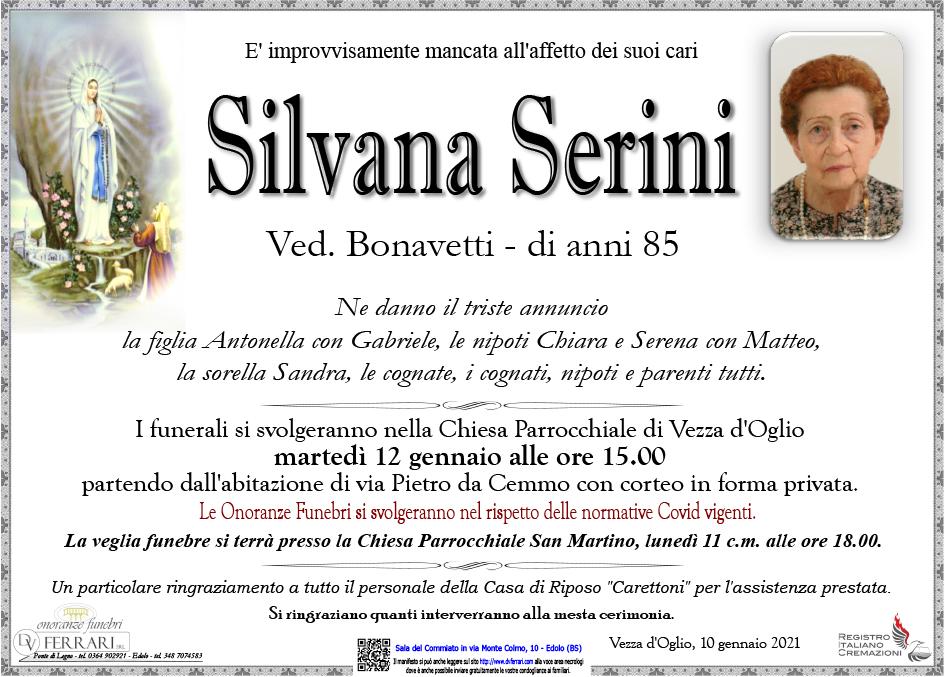 SILVANA SERINI ved. BONAVETTI - VEZZA D'OGLIO
