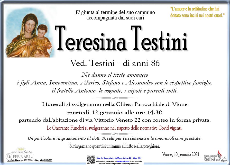 TERESINA TESTINI ved. TESTINI - VIONE