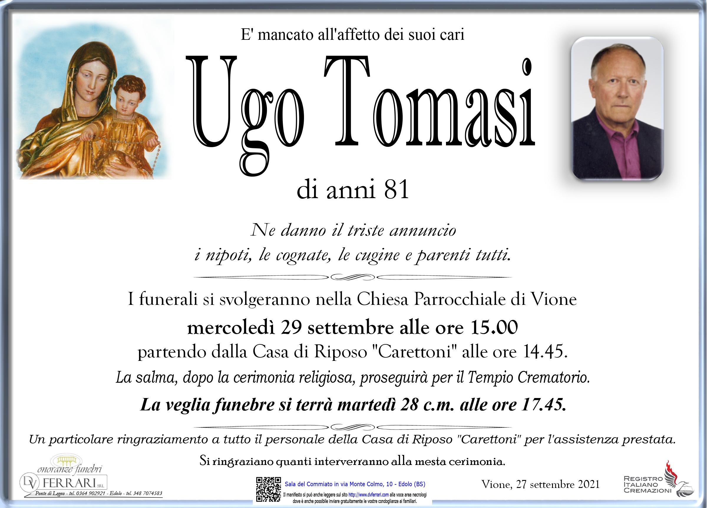 UGO GIUSEPPE TOMASI - VIONE
